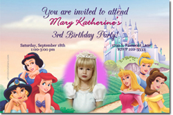 Design online, download jpg immediately DIY princess kingdom party birthday Invitations