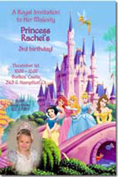 Design online, download jpg immediately DIY princess magical kingdom party birthday Invitations