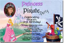 Design online, download jpg immediately DIY sleeping beauty party birthday Invitations