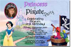 Design online, download jpg immediately DIY snow white party birthday Invitations