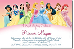 Design online, download jpg immediately DIY princess storytime party birthday Invitations