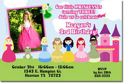 Design online, download jpg immediately DIY generic princess party birthday Invitations