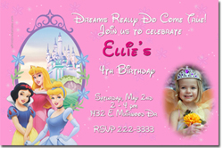 Design online, download jpg immediately DIY princess party birthday Invitations