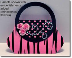Design online, download jpg immediately DIY purse birthday Invitations