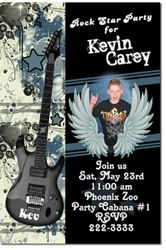 Design online, download jpg immediately DIY rock n roll birthday party Invitations