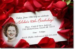 Design online, download jpg immediately DIY roses birthday party invitations