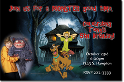 Design online, download jpg immediately DIY scooby doo birthday party Invitations