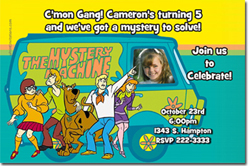 Design online, download jpg immediately DIY scooby doo party birthday Invitations