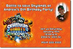 Click For Additional Designs Design Online Download Jpg Immediately DIY Skylanders Giants Birthday Party Invitations