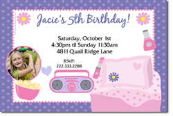 Design online, download jpg immediately DIY slumber party birthday Invitations