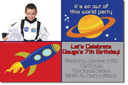 Design online, download jpg immediately DIY space camp birthday party Invitations