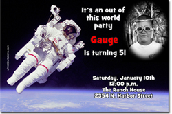 Design online, download jpg immediately DIY space party birthday Invitations