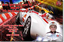 Design online, download jpg immediately DIY speed racer birthday party Invitations