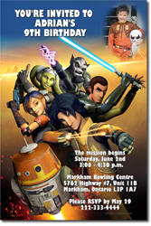 Click to order star wars rebels birthday invitations