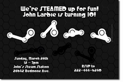 Design online, download jpg immediately DIY steam powered birthday party Invitations