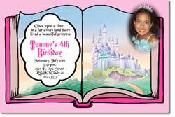 Design online, download jpg immediately DIY storybook castle party birthday Invitations
