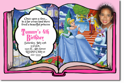 Design online, download jpg immediately DIY storybook cinderella party birthday Invitations