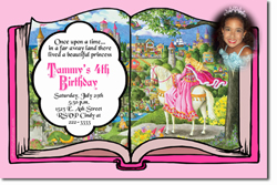 Design online, download jpg immediately DIY storybook princess party birthday Invitations