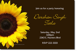 Design online, download jpg immediately DIY sunflower birthday party invitations
