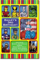 Design Online Download Jpg Immediately DIY Super Squad Heroes Birthday Party Invitations