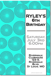 Design online, download jpg immediately DIY swirls birthday party Invitations
