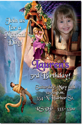 Design online, download jpg immediately DIY tangled the movie party birthday Invitations