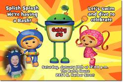 Design online, download jpg immediately DIY team umizoomi birthday party Invitations