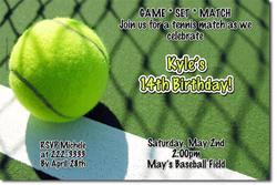 Design online, download jpg immediately DIY tennis party birthday invitations