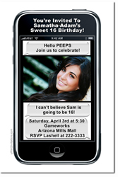 Design online, download jpg immediately DIY texting birthday party Invitations