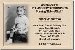 Design online, download jpg immediately DIY theater party birthday invitations