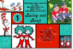 Design online, download jpg immediately DIY thing1 thing2 party birthday Invitations