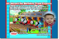 Design online, download jpg immediately DIY thomas the tank engine birthday party Invitations