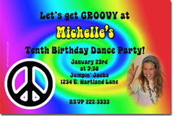 Design online, download jpg immediately DIY tie dye party birthday Invitations