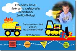 Design online, download jpg immediately DIY tonka truck birthday party Invitations