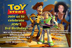 Design online, download jpg immediately DIY toy story party birthday Invitations