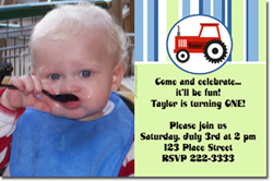Design online, download jpg immediately DIY tractor birthday party Invitations