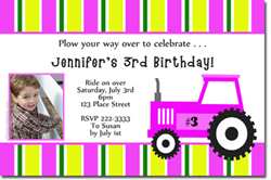 Design online, download jpg immediately DIY tractor party birthday Invitations