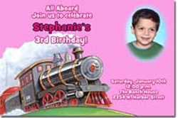 Design online, download jpg immediately DIY train party birthday Invitations