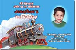 Design online, download jpg immediately DIY train birthday party Invitations