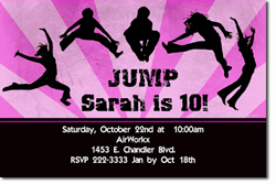 Design online, download jpg immediately DIY trampoline park birthday Invitations