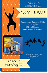 Design online, download jpg immediately DIY Sky Jump birthday Party Invitations