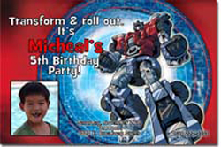 Design online, download jpg immediately DIY transformers birthday party Invitations