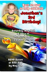 Design online, download jpg immediately DIY turbo the movie birthday party Invitations