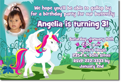 Design online, download jpg immediately DIY unicorn party birthday Invitations