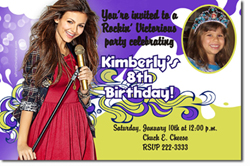 Design online, download jpg immediately DIY victorious party birthday Invitations