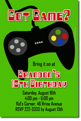 Design online, download jpg immediately DIY video game controller birthday party Invitations