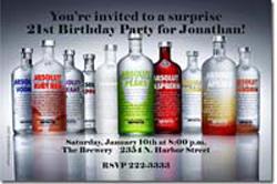Design online, download jpg immediately DIY vodka cocktails birthday party invitations