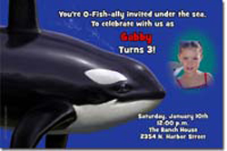 Design online, download jpg immediately DIY whale party birthday Invitations