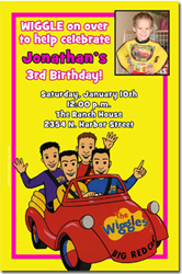 Design online, download jpg immediately DIY wiggles party birthday Invitations