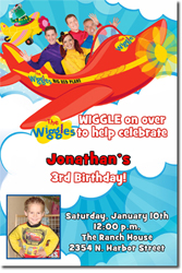 Design online, download jpg immediately DIY wiggles birthday party Invitations
